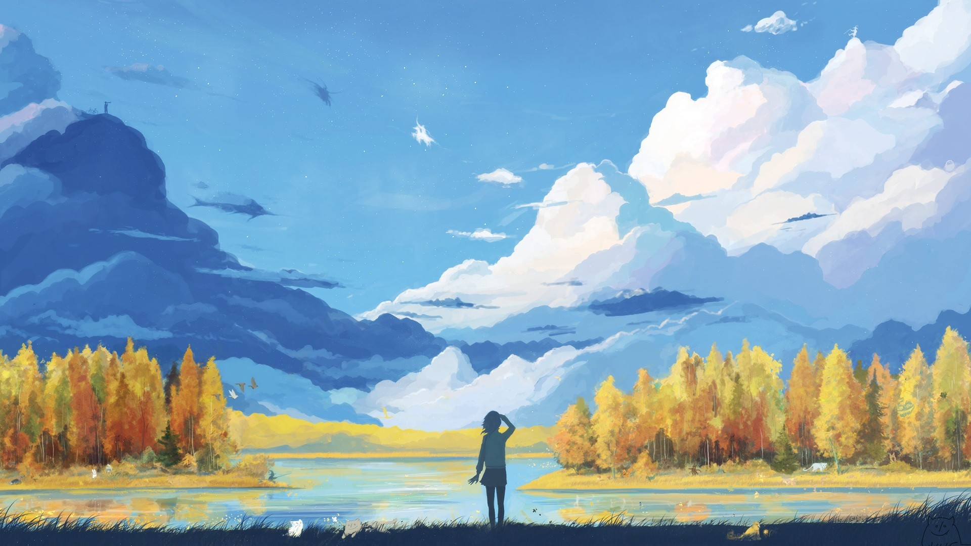1920x1080 Wallpaper 1920x1080 Px, Anime, Fantasy Art, Landscape