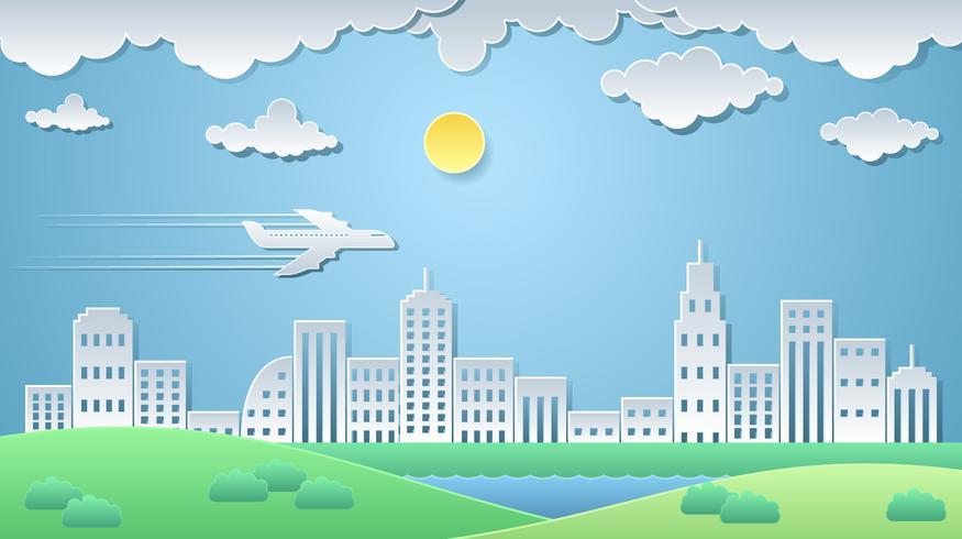 875x490 City Paper Art Landscape Vector
