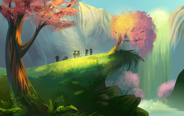 600x380 Create A Magical Vector Landscape In Adobe Illustrator