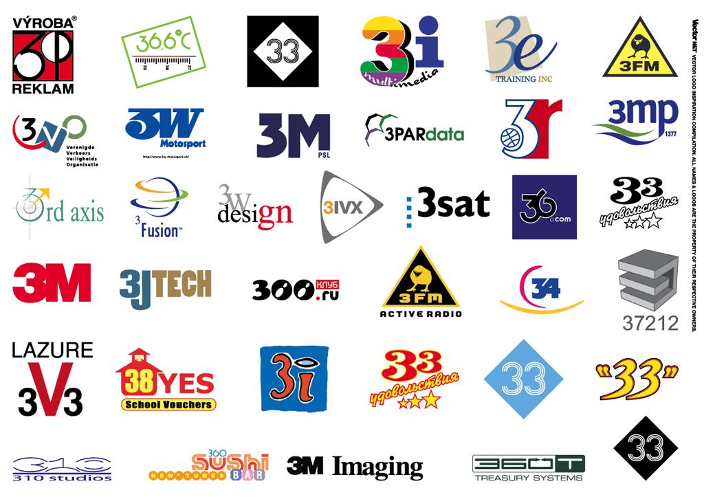 1024x723 Logo Inspiration 1 2 3 Vector Logos