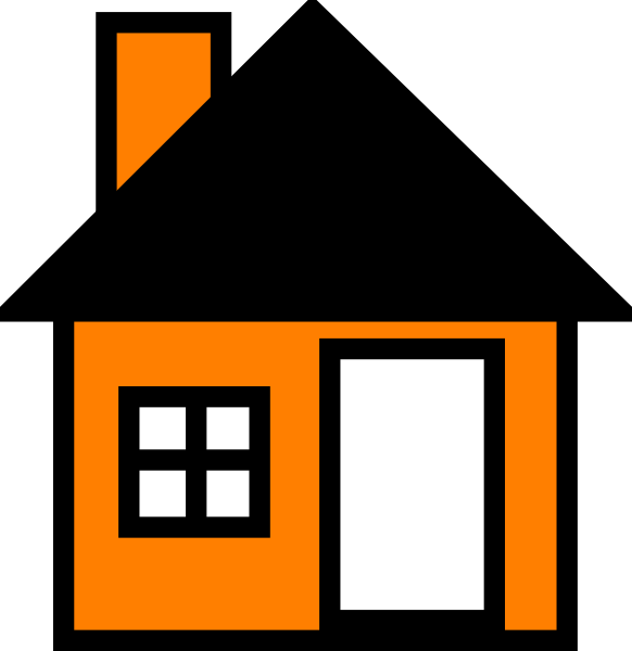 582x600 House Vector Graphic Black And White