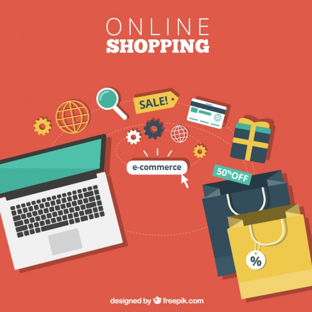 626x626 Online Shopping Vector Free Download