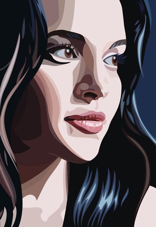520x755 25 Amazing Artistic Vector Portraits Vector Artwork Portraits