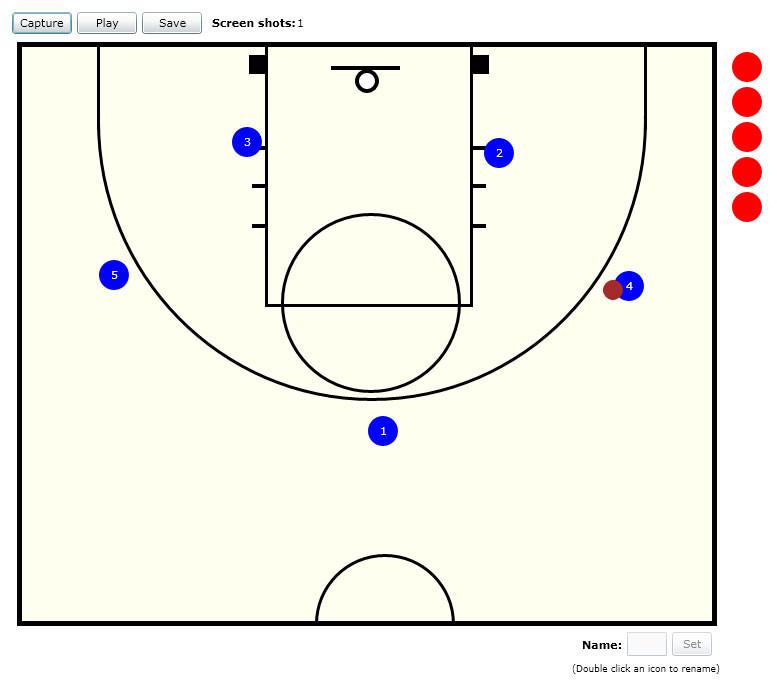 777x685 Program To Draw Basketball Plays Basketball Playbook Vector