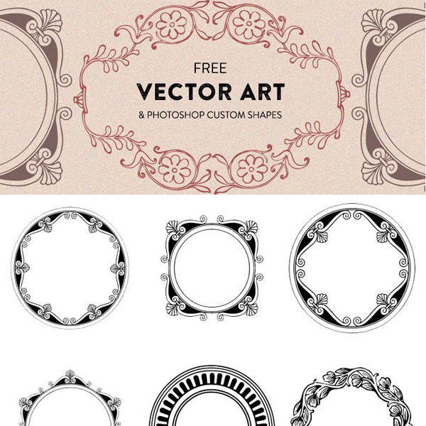600x600 Free Fancy Vector Art Shapes