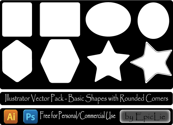 600x434 Free Geometric Shapes Vector Pack 123freevectors