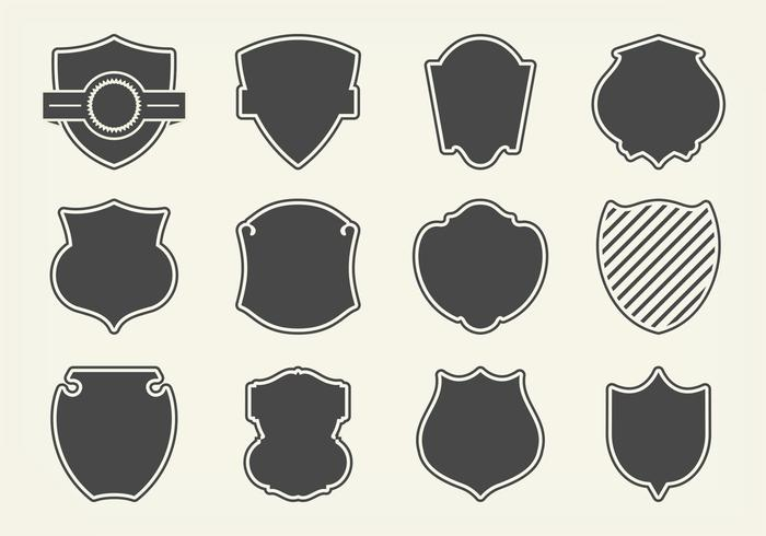 700x490 Free Vector Shield Shapes