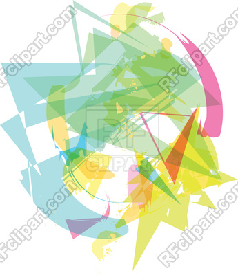 345x400 Trendy Colorful Transparent Shapes Abstract Background