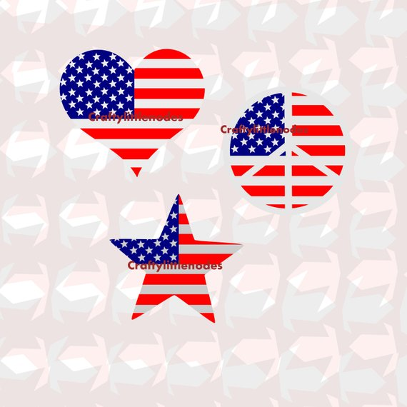 570x570 American Flag Shapes Svg Studio Ai Eps Scalable Vector Art Etsy