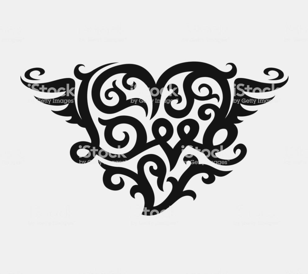 993x883 Tattoo With Love Heart Symbol Stock Vector Art Love Symbol