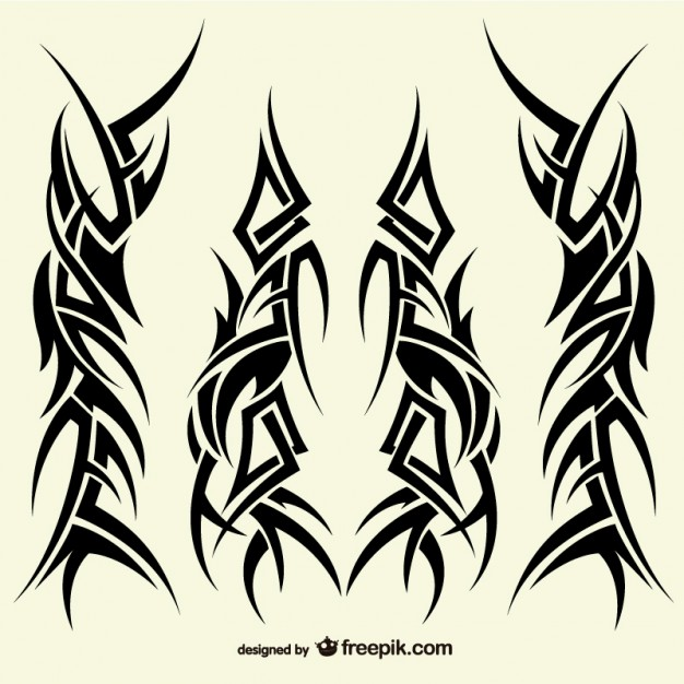 626x626 Tattoos Tribal Designs Collection Vector Free Download