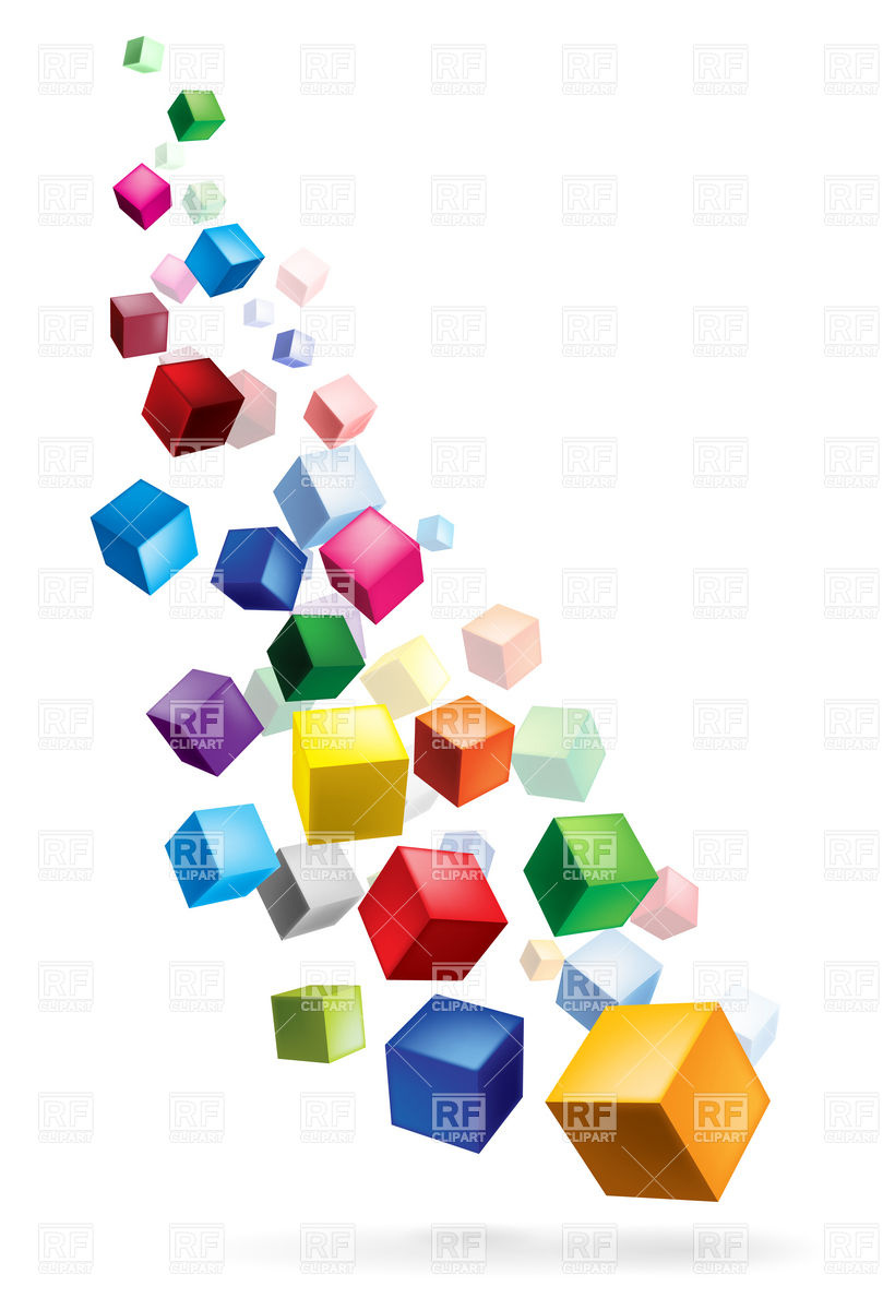 809x1200 Color Cubes Torrent Vector Image Vector Artwork Of Backgrounds