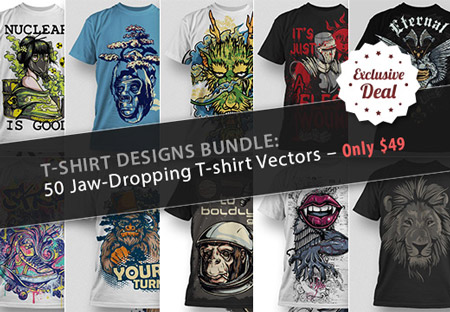 450x312 T Shirt Designs Bundle 50 Jaw Dropping T Shirt Vectors Free