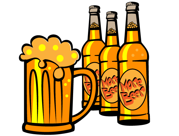 600x455 Beer Bottle Torrent Vector Clipart Panda