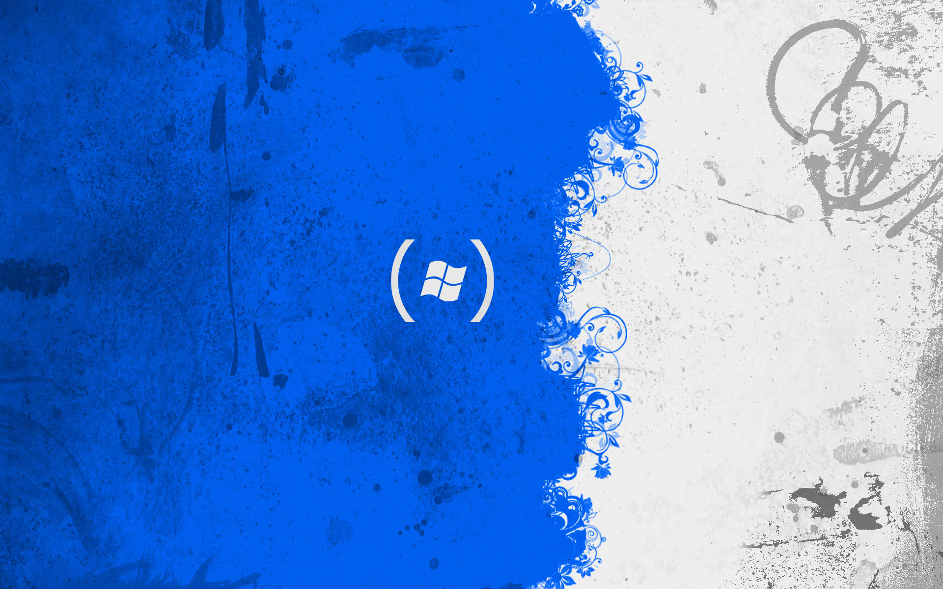 Abstract Blue Blue White Rhytm Pattern Android wallpaper Android