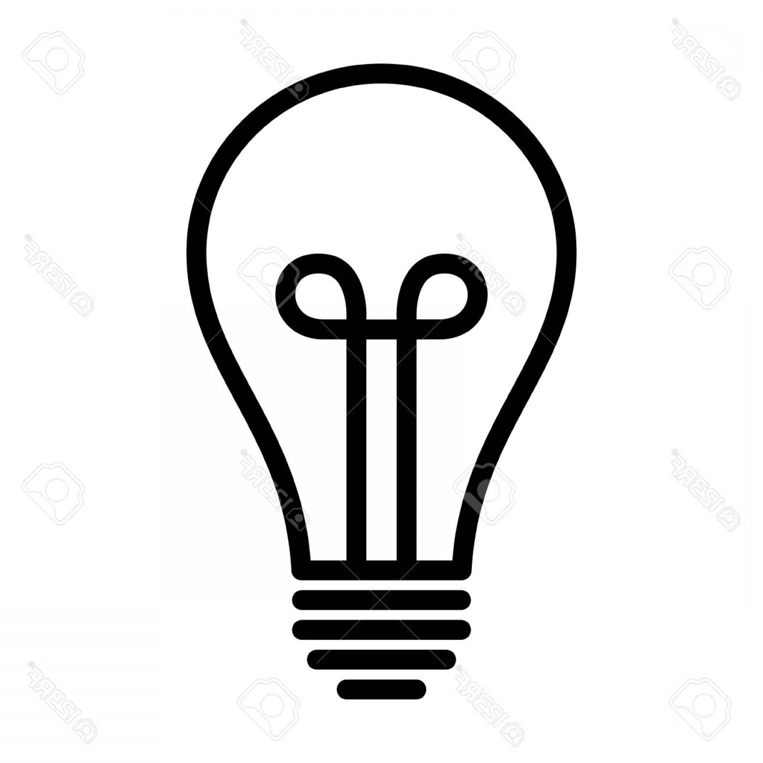 1560x1560 Photostock Vector Vintage Light Bulb Lightbulb Turned Off Or Idea