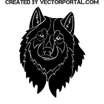 Vector Art Wolf