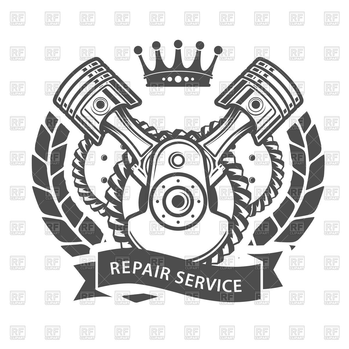 1200x1200 Auto Repair Service Emblem