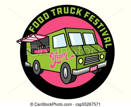 450x368 Food Truck Cartoon Vector Illustration. Design For Food Truck