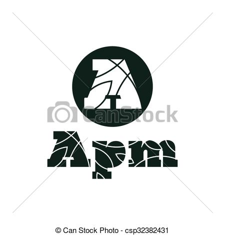 450x470 Logo Letter A Flat Style Vector Illustration. Logos Letter A Flat