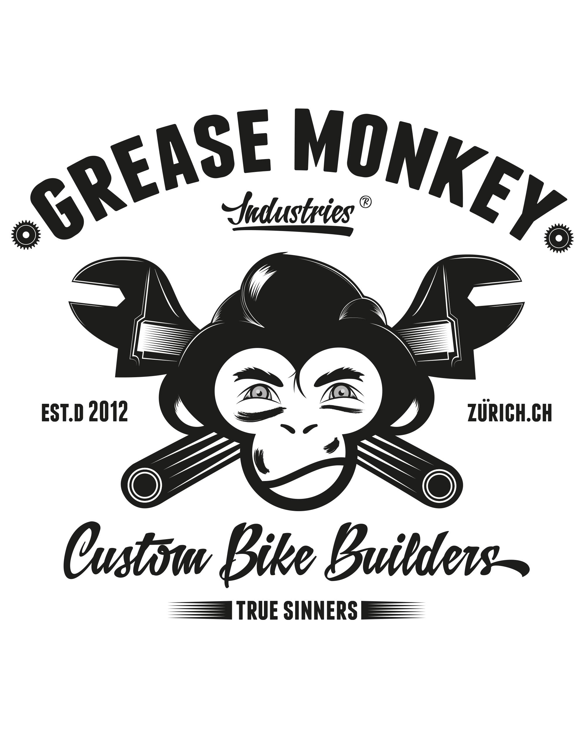 2000x2500 Swiss Grease Monkey. Logo Vector Artwork For Swiss Cafe Racer