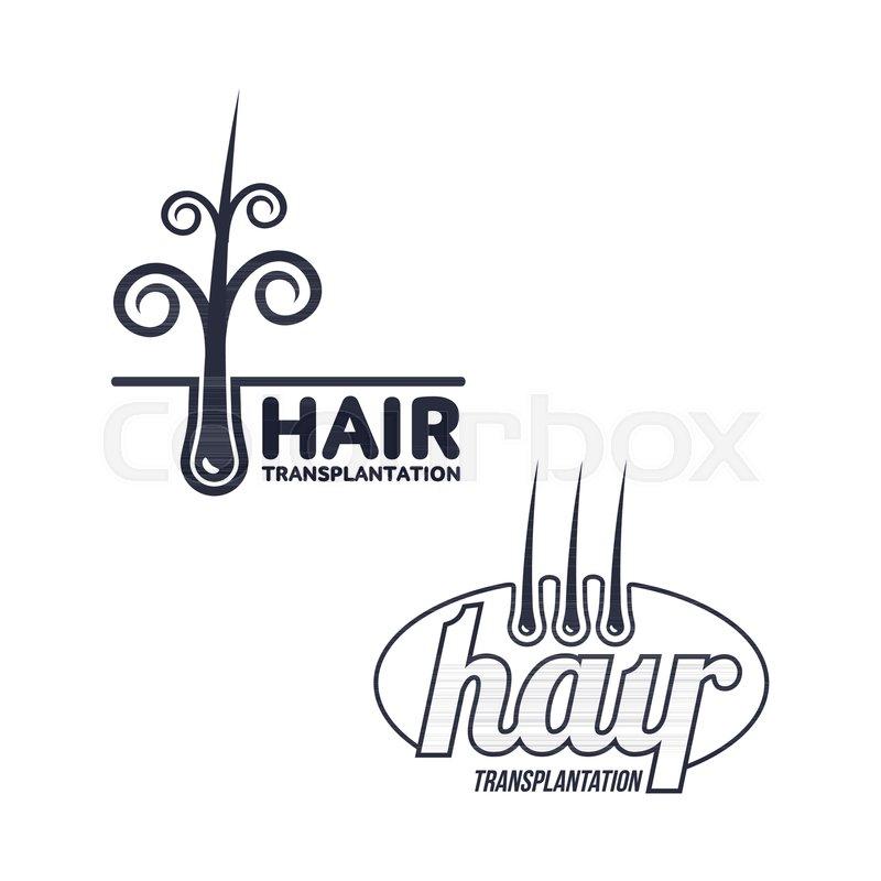 800x800 Two Hair Transplantation Logo, Logotype Templates, Vector