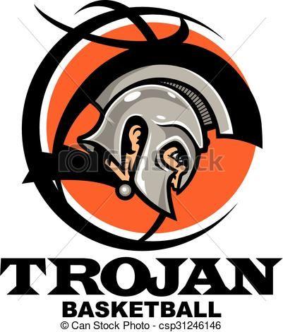 401x470 Vector Trojan Basketball Stock Illustration Royalty Free Vector