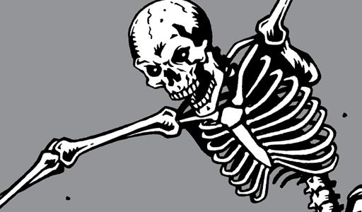 512x300 Thrashing Skeleton Vector Art Vector Genius