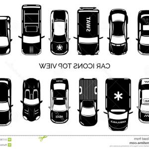 300x300 Stock Illustration Car Icons Top View Auto Transportation