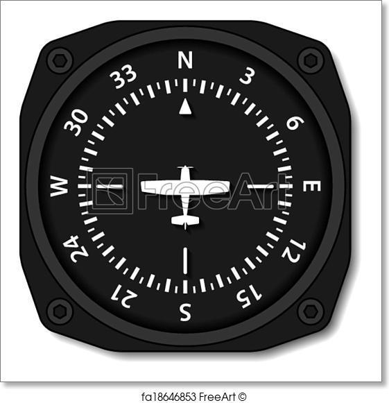 561x581 Free Art Print Of Vector Aviation Aircraft Compass Turns Freeart