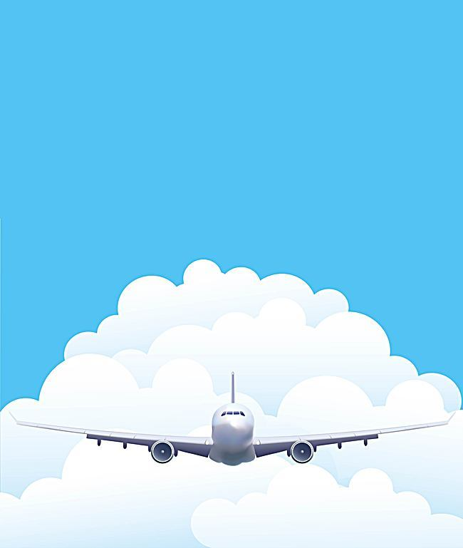 650x769 Vector Aviation Aircraft Travel Background Material, Vector, Blue