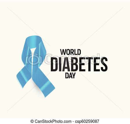 450x429 Diabetes Awareness Ribbon, Blue Vector Symbol. Diabetes Awareness