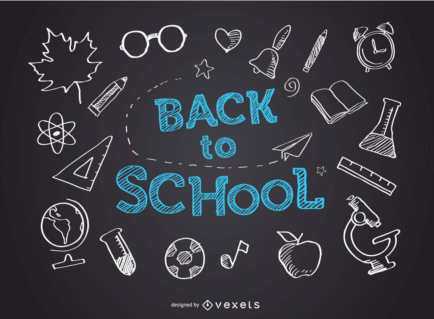 1500x1105 Back To School Blackboard
