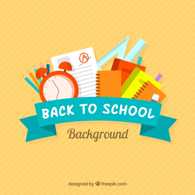 626x626 Back To School Design With Ribbon Vector Free Download