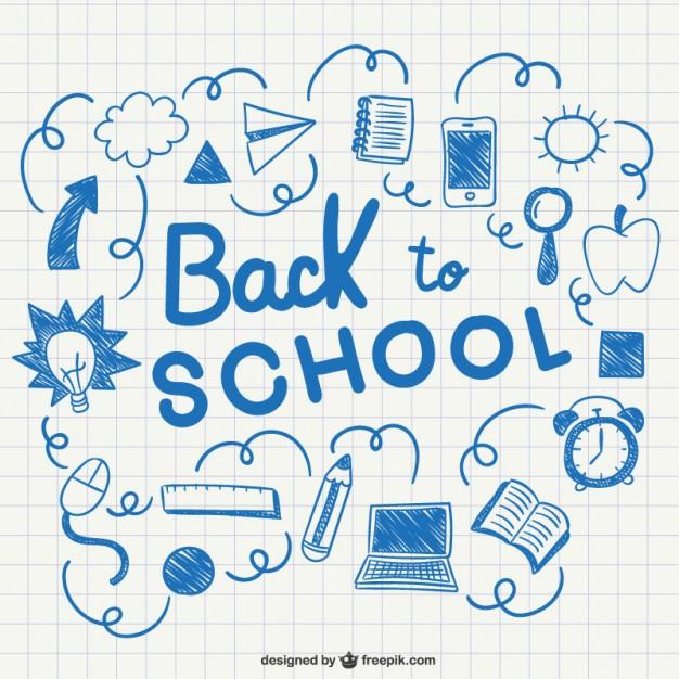 626x626 Back To School Doodles Sketch Vector Free Download