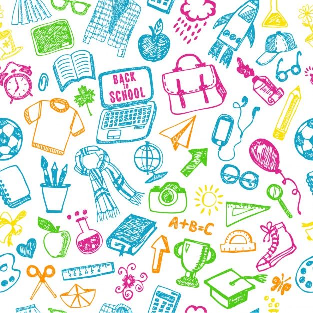 626x626 Back To School Pattern Vector Free Download