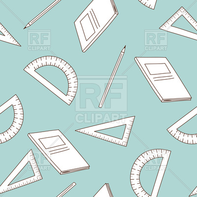 400x400 Back To School Seamless Background With Education Icons Vector