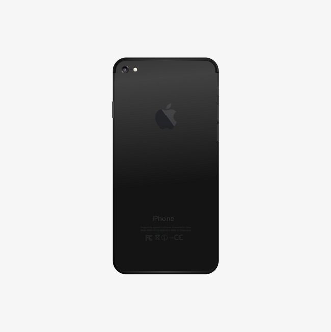 650x651 Black Apple Phone Back, Black Vector, Apple Vector, Phone Vector