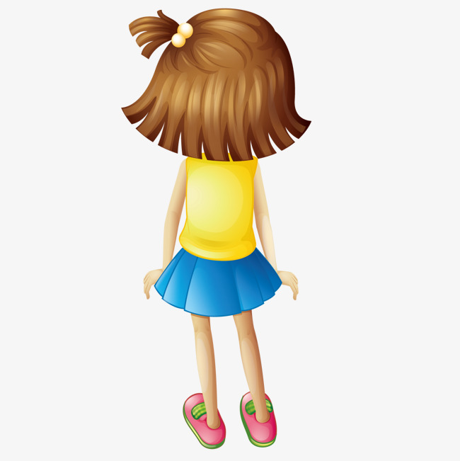 650x651 Cartoon Girl Back, Girl, Back, Cartoon Png And Vector For Free