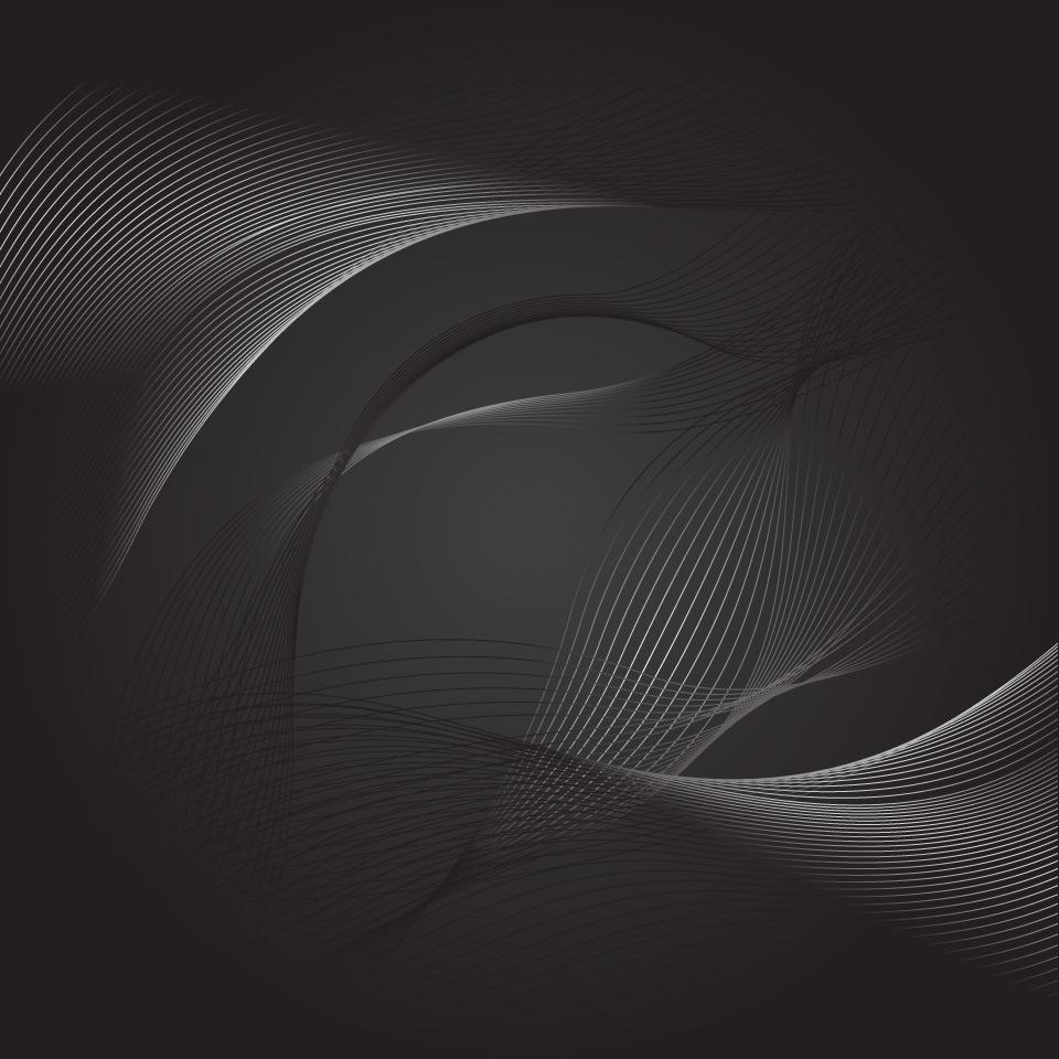 960x960 Dark Abstract Back Swirls Lines Vector Design