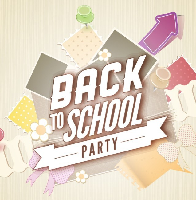 638x651 Free Back To School Party Flyer Template Vector