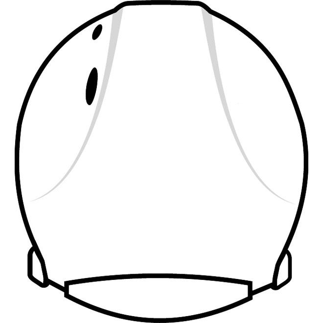 660x660 Revolution Helmet Vector Back View