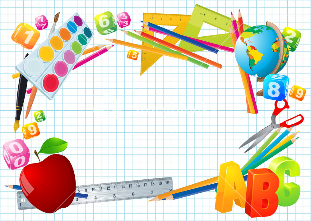 1000x711 Back To School Vector Template. Royalty Free Stock Image