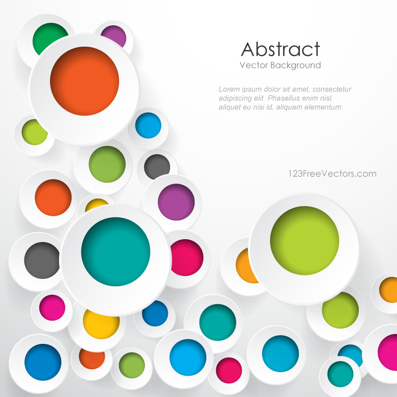 800x800 Colorful Circle Vector Background 123freevectors