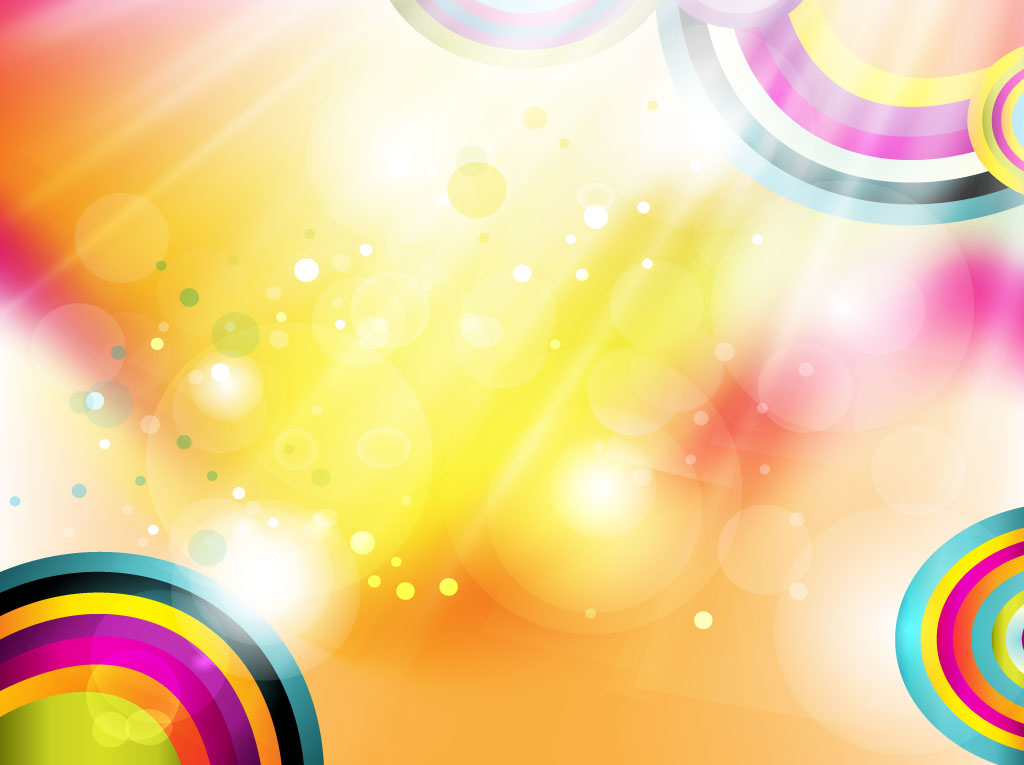 1024x765 Rainbow Circles Vector