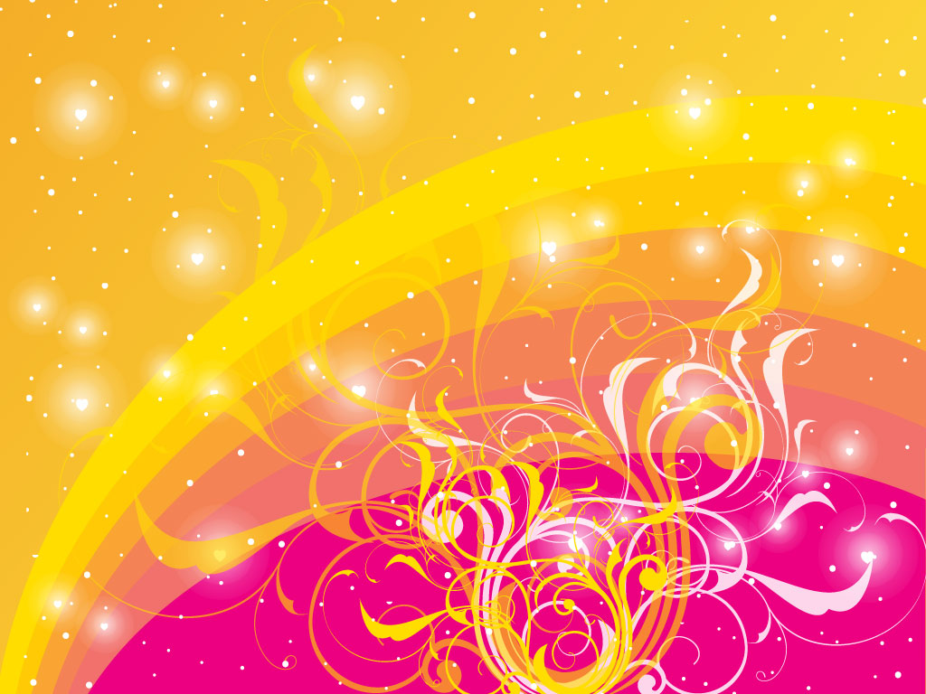 1024x768 Vector Swirls Background