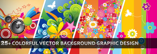 550x190 25 Colorful Vector Background Graphic Designs Vector Graphic