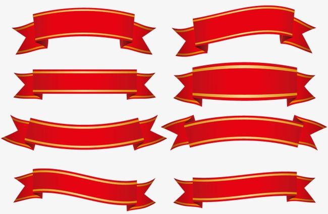 650x425 Red Ribbon Vector, Red, Banner Banner, Ribbon Png And Vector For