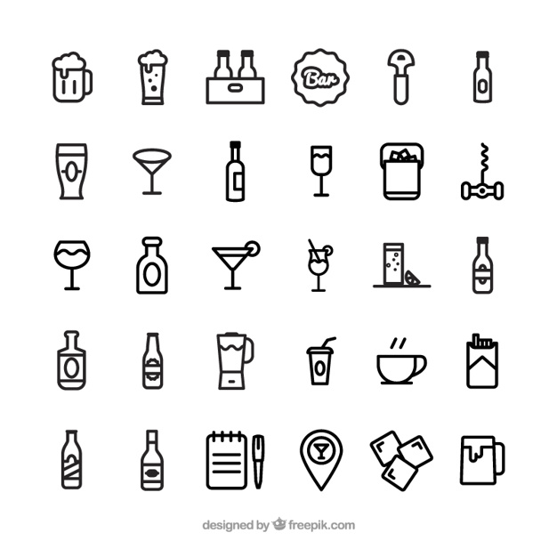 626x626 Bar Icons Vector Free Download