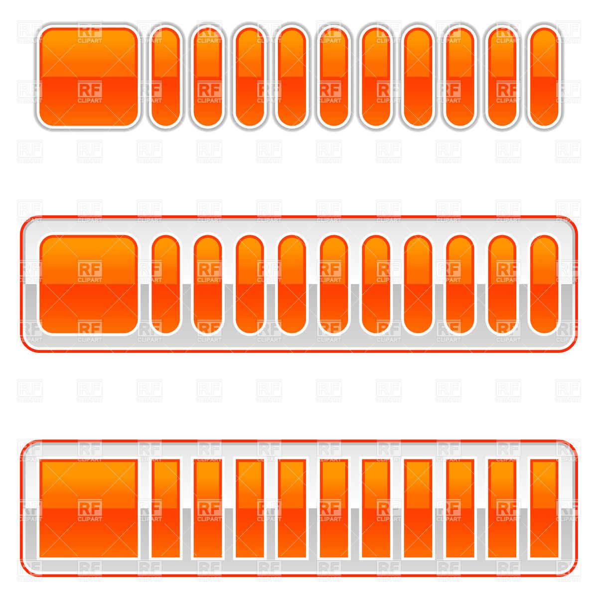 1200x1200 Blank Orange Loading Bar Vector Image Vector Artwork Of Design